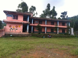 De basisschool in Adhikaridanda