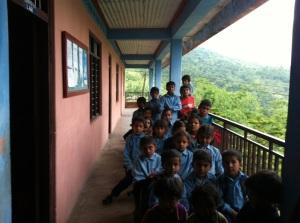 Een aantal leerlingen van de school