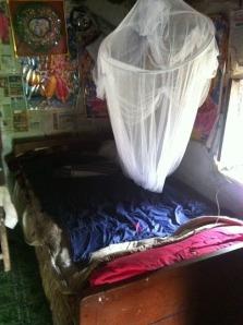 Mijn bed (helaas maar 1,80 meter)