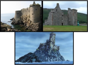 vieux-château de l'Île d'yeu, Lochranza Castle & het kasteel uit het Kuifje stripboek