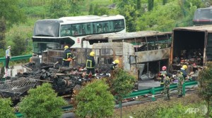 Busongeluk in China van afgelopen week